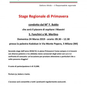 Settore Aikido – Stage Regionale
