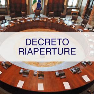 DECRETO RIAPERTURE DEL 19 MAGGIO 2021